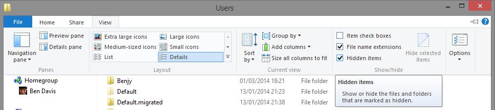 show-hidden-folders